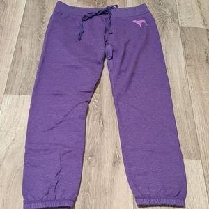 PINK purple XS DRAWSTRING JOGGER